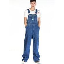 Мужская случайные свободные зеленые молнии комбинезоны Мужчины плюс большой размер джинсовые комбинезоны Огромный брюки Бесплатная доставка