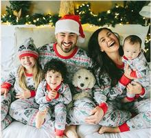 2017 New Christmas Family Matching Pajamas Set Mother Father Son Long Sleeve Cotton Sleepwear Baby Mom Nightwear Pyjamas