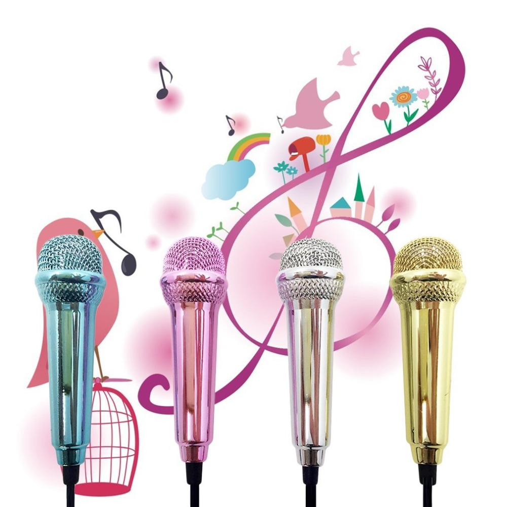 Portable Aluminum Alloy Mini 3.5mm Wired Microphone for Tablet PC Laptop Speech Sing Karaoke