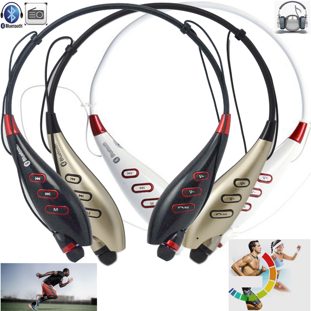 Wireless Bluetooth 4.0 Sport Stereo Headset Heaphone Earphone Support FM TF Card Handsfree With Microphone For iPhone Samsung LG ...
