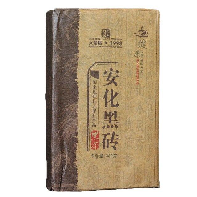 Anhua Черный Кирпичный Чай Для Похудения Тела Похудеть Здравоохранение 350 г