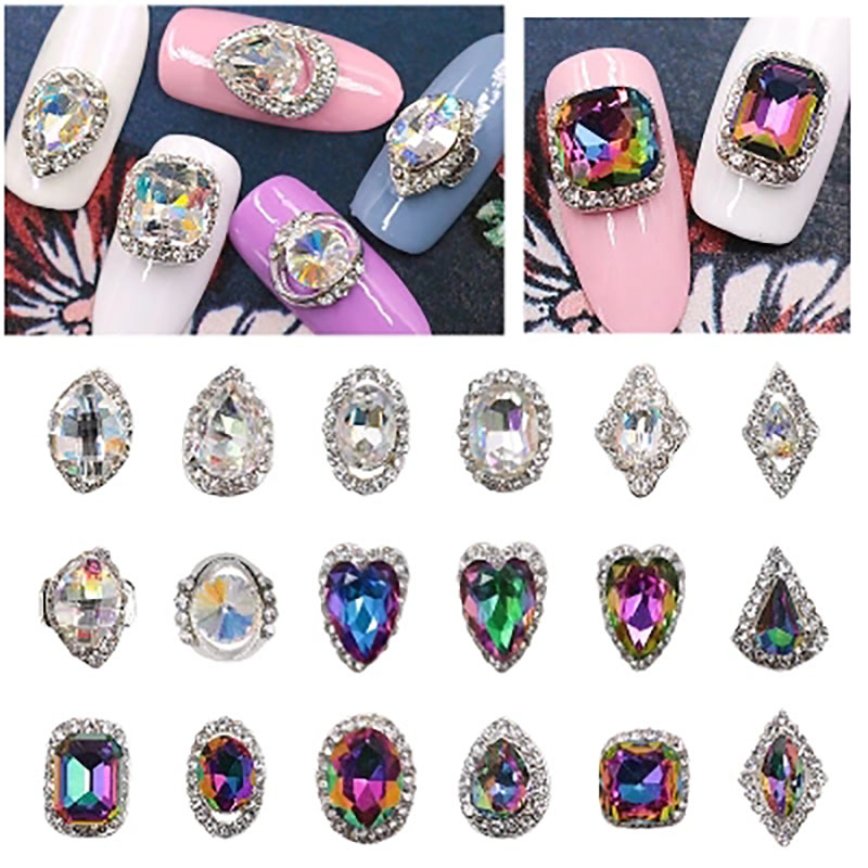 Hot Sale Flat Back Marquise Earth Facets 22 Style  Acrylic Horse Eye Shape Rhinestone Nail Decorative Crystal Diamond Manicure hot sale c shaped waterfall acrylic occasional side table