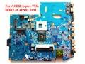 Para acer aspire 7736 pga479m jv71-mv 09242-1 m 48.4fx01.01m madre del ordenador portátil ddr2 mbpjb0100 probado completamente