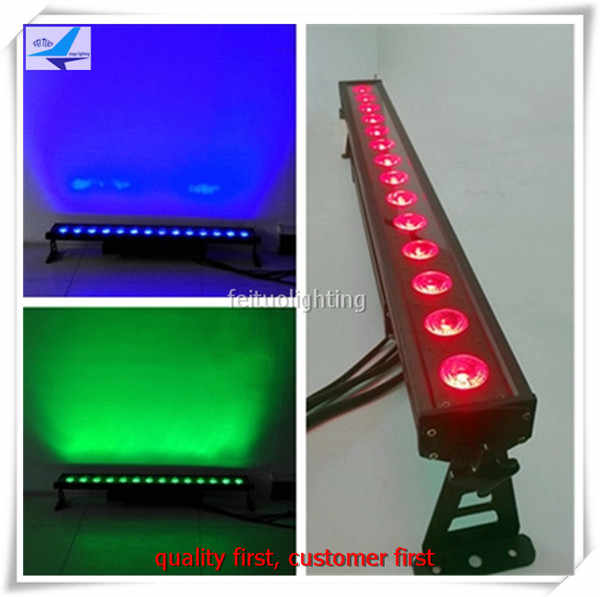 8xlot Power Outdoor Wash Landscape 14x18W Led Wall Washer Light IP65 Dot Control Pixel Linear Led Bar Dmx Stage Wedding Dj Lamp