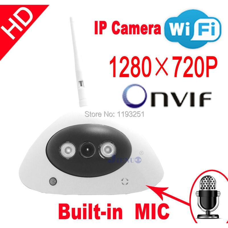 Frete grátis Câmera IP HD onvif áudio cctv Câmeras cmos infravermelho 720 P wifi sem fio sistemas de vídeo de segurança home indoor