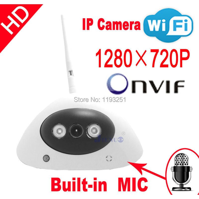 Free shipping IP Camera HD audio onvif cctv Cameras cmos infrared 720P wifi wireless video systems security home indoor audio wireless explosion proof 720p 1 0mp dome ip camera support p2p onvif hpone view cctv security camera free shipping