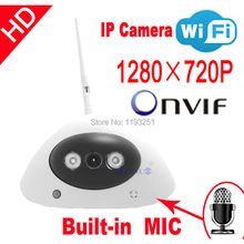 Free shipping IP Camera HD audio onvif cctv Cameras cmos infrared 720P wifi wireless video systems security home indoor
