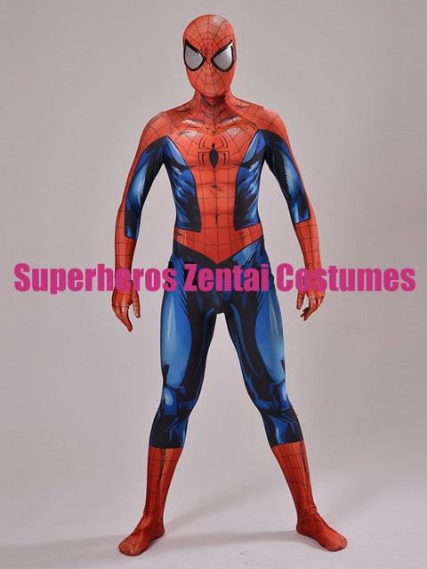 Ultimate Spiderman Costume 3D print Comic spider-man Cosplay Costumes Men Spandex Superhero Spidey Bodysuit Custom Made Zentai & Online Shop Ultimate Spiderman Costume 3D print Comic spider-man ...
