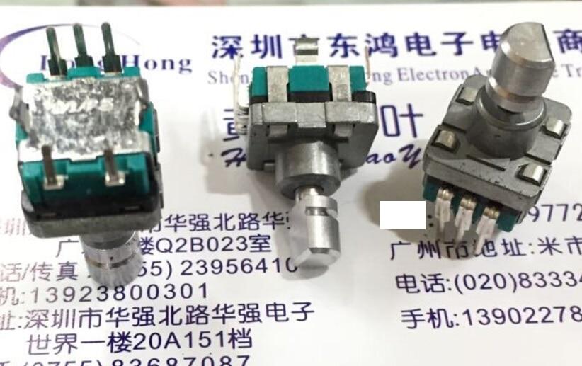 Кодировщик ALPS Alps типа EC11 с переключателем 30, позиционирование 15, длина импульсного вала 13 мм, 2 шт./лот