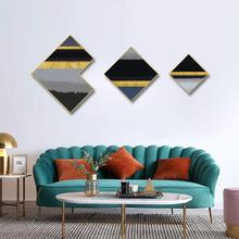 Golden combination painting framed Modern mural Bedroom restaurant Nordic style decorative office paintings