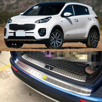 2017 Kia Sportage Accessories >> High Quality Car Accessories Stainless Steel Rear Bumper Foot Plate For Kia Kx5 Sportage 2016 2017 2018 2019