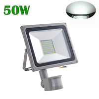 50W LED Floodlight Spotlight Waterproof IP65 PIR LED Projector Lamp Motion Sensor Flood Lamp LED Sensor Outdoor Lighting AC220V