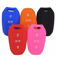 3 Button silicone key fob cover case skin For Peugeot 508 301 2008 3008 4008 407