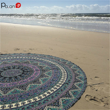 Bohemian Beach Towels Round Chiffon Towel Quick Dry Mandala Yoga Mat Tapestry Seaside Meditation Beach Rest Easy Clean 3D Print цена