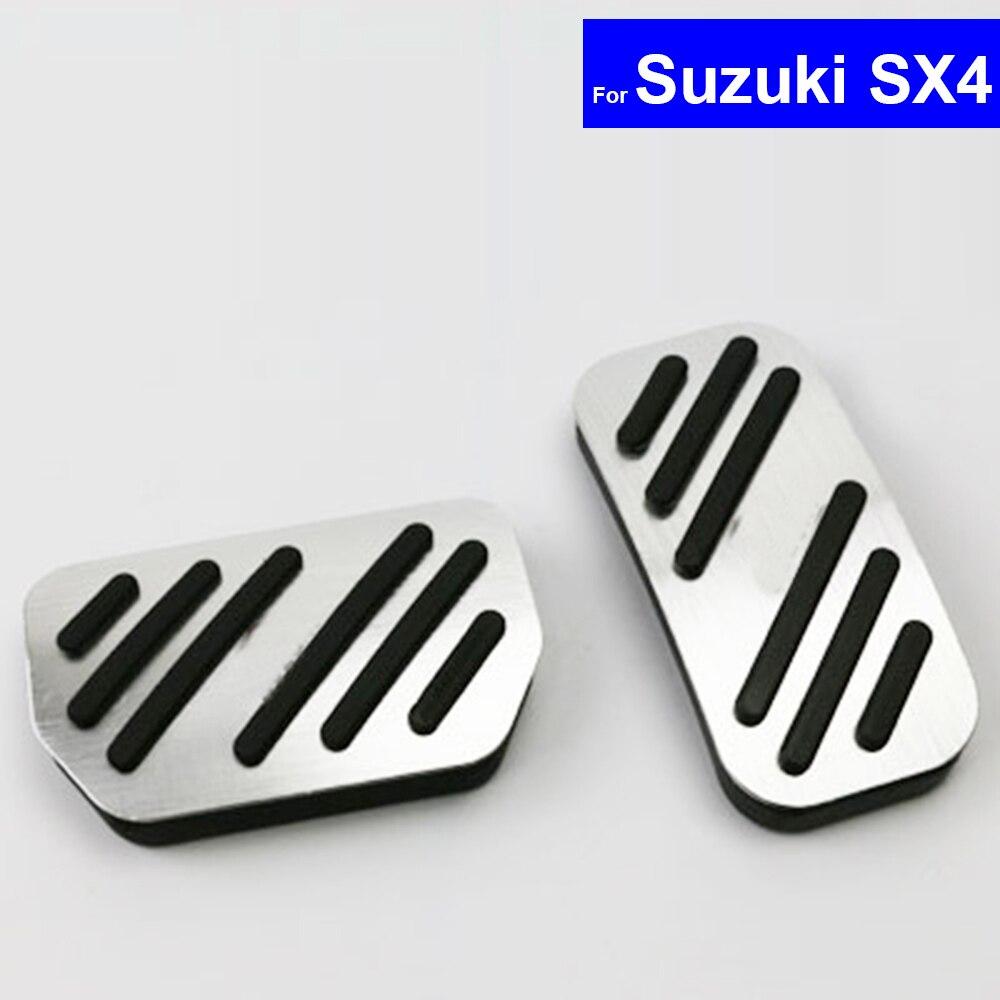 Car Aluminium Alloy Petrol Clutch Fuel Brake Braking Pad Foot Pedals Rest Plate for Suzuki Swift SX4 Alivio Vitara Scross
