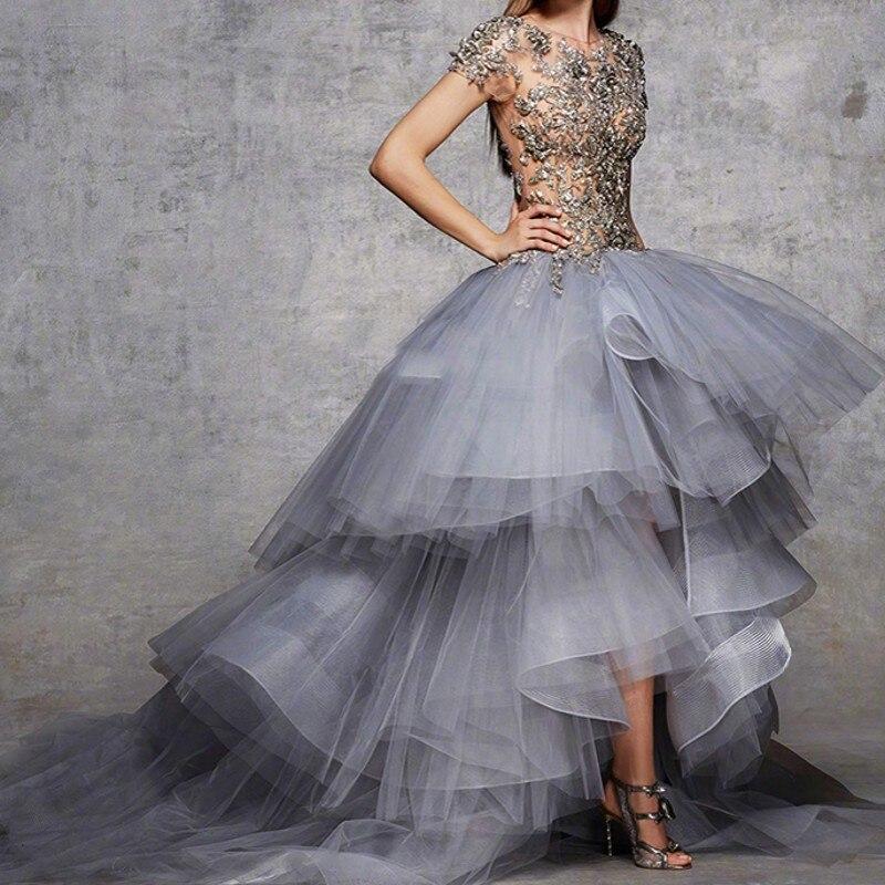 Abiti Da Cerimonia Da Sera Beaded Dress Evening Vestido De Festa Robe Longue Femme Soiree Gorgeous Long Evening Dresses Sheer