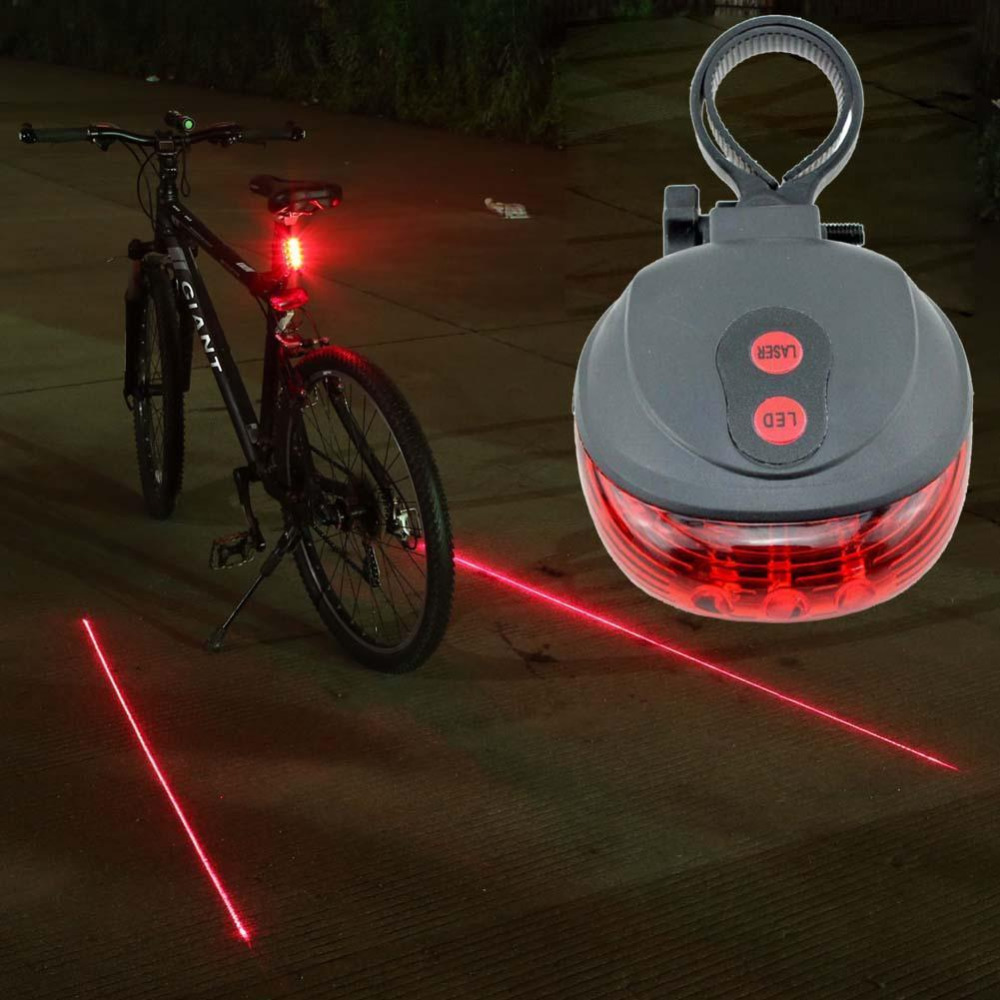 BICYCLE LED TAIL Front or Rear Light FLASH MODE Mountain Bike Waterproof Bright