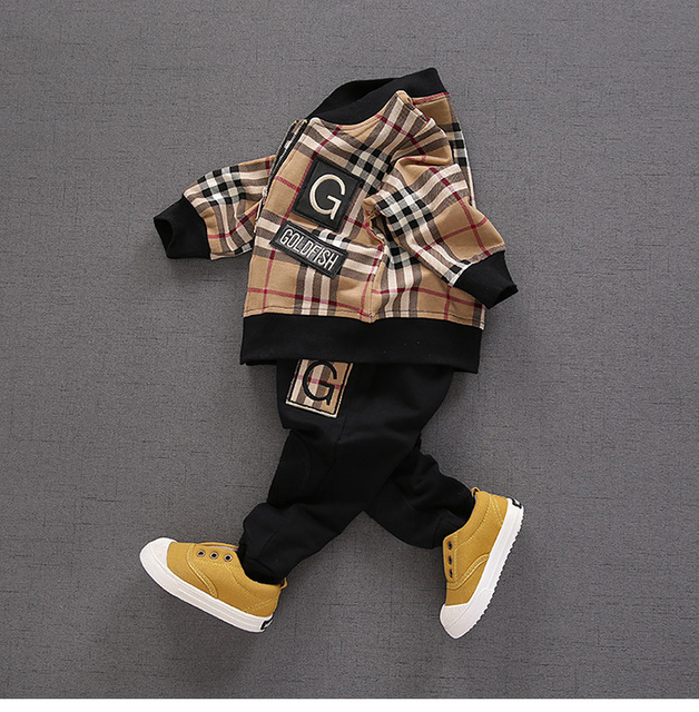 Baby suit 2017 spring and Autumn period new male and female children casual wear cotton coat pants suit