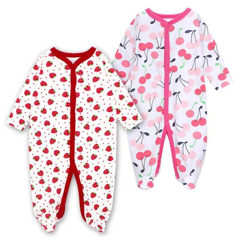الوليد طفل بنين بنات النائمون منامة الرضع حللا 2 قطعة/الوحدة الرضع طويلة الأكمام 0 3 6 9 12 أشهر الملابس