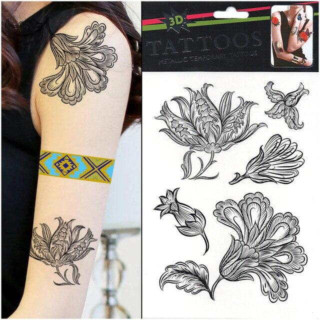 Metallic Temporary Tattoo Temporary Glitter Tattoo 10pcs Lot Small