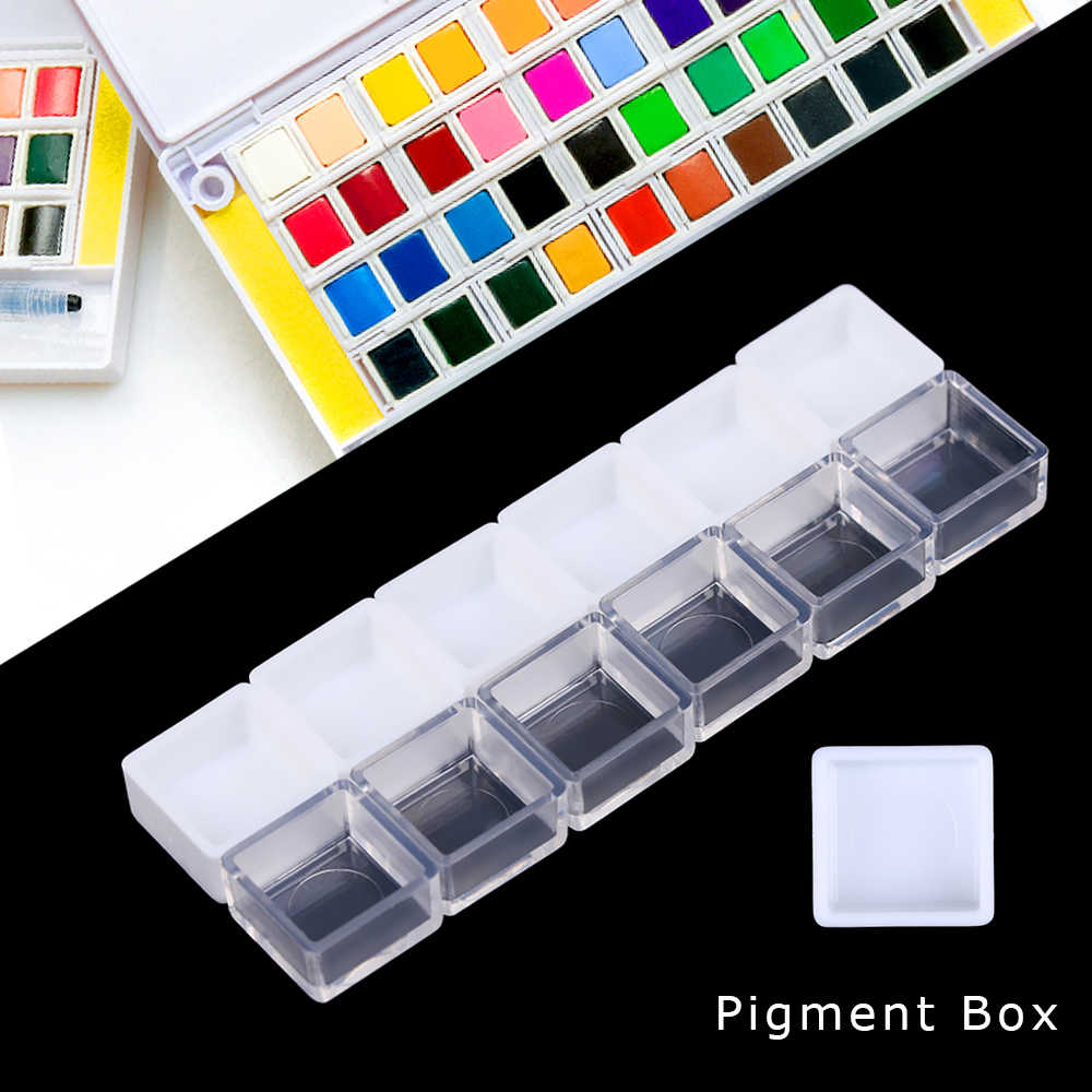 20/50PCS 0.5/3.2ML Artists Empty Watercolor Paint Pans Painters Pigment Convenient Paint Case Art Crafts Palette Accessories