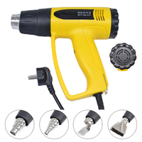 JIGUOOR 2000W 220V Heat Gun Industrial Electric Hot Air Gun EU Plug 4 Nozzles