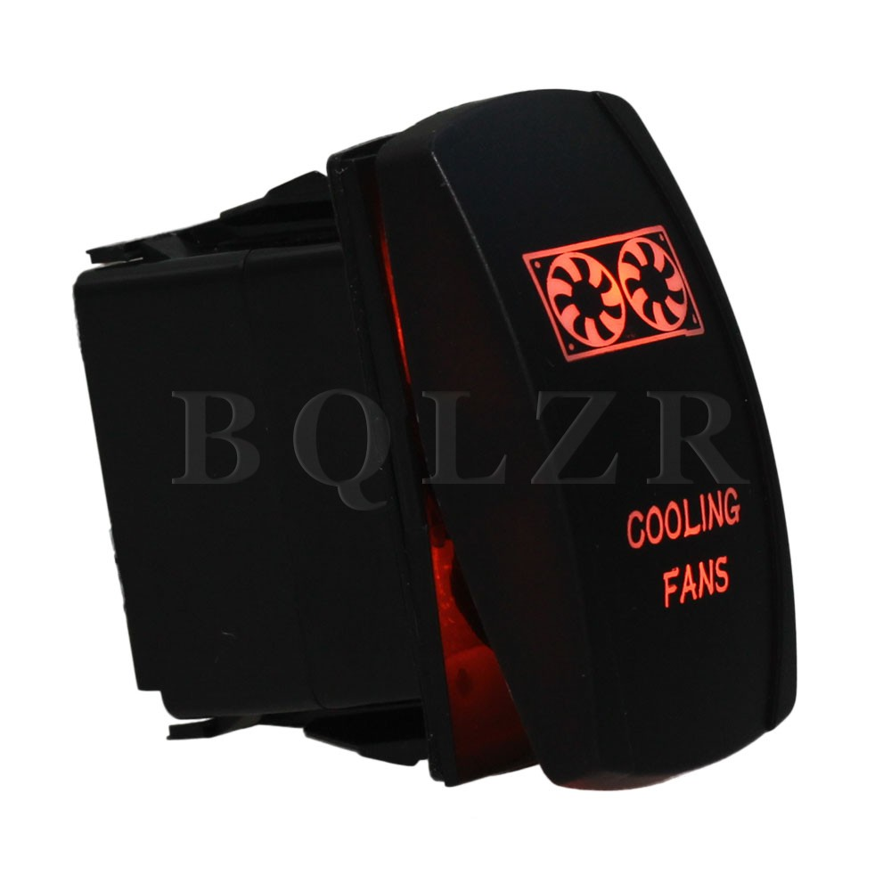 5pin Waterproof IP68 Cooling Fans Orange Light ON-OFF Car Rocker Switch DC12-24V BQLZR bqlzr dc12 24v black push button switch with connector wire s ot on off fog led light for toyota old style