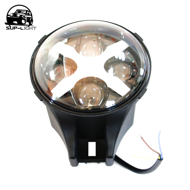 1 pcs 6'' round LED spot lights for JEEP WRANGLER lamps fog lamp auxiliary lamp converted 6'' bumper car Driving lights
