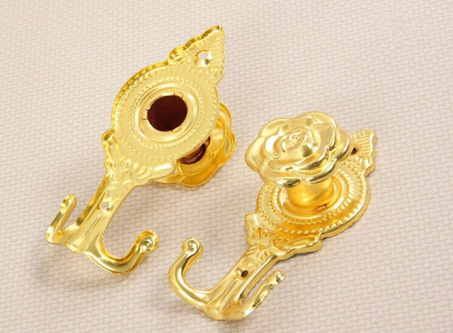 Free shipping 2Pcs/set Rose Wall hook Curtain hooks Curtain ...