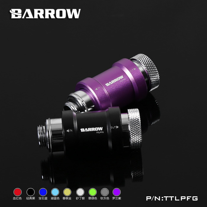 Barrow TTLPFG Flat Push Type Check Valve Single Inner Thread  Part For Water Cooling Computer