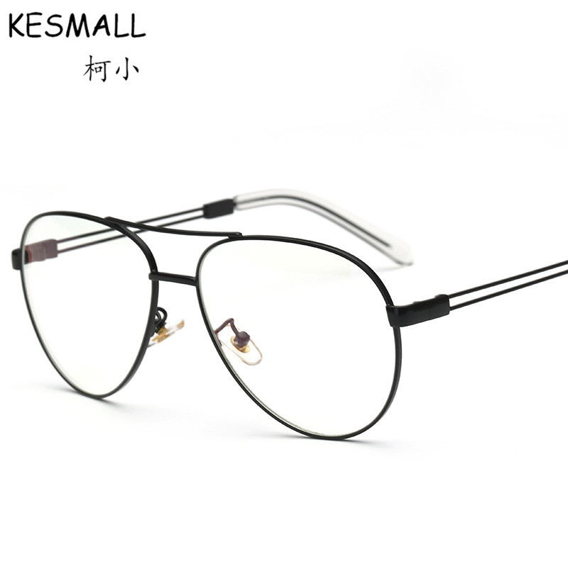 Brand Design Optical Metal Glasses Frame Women Men Vintage Eyeglasses Frames Female Fashion Myopia Gold Eye Glasses Frame YJ573
