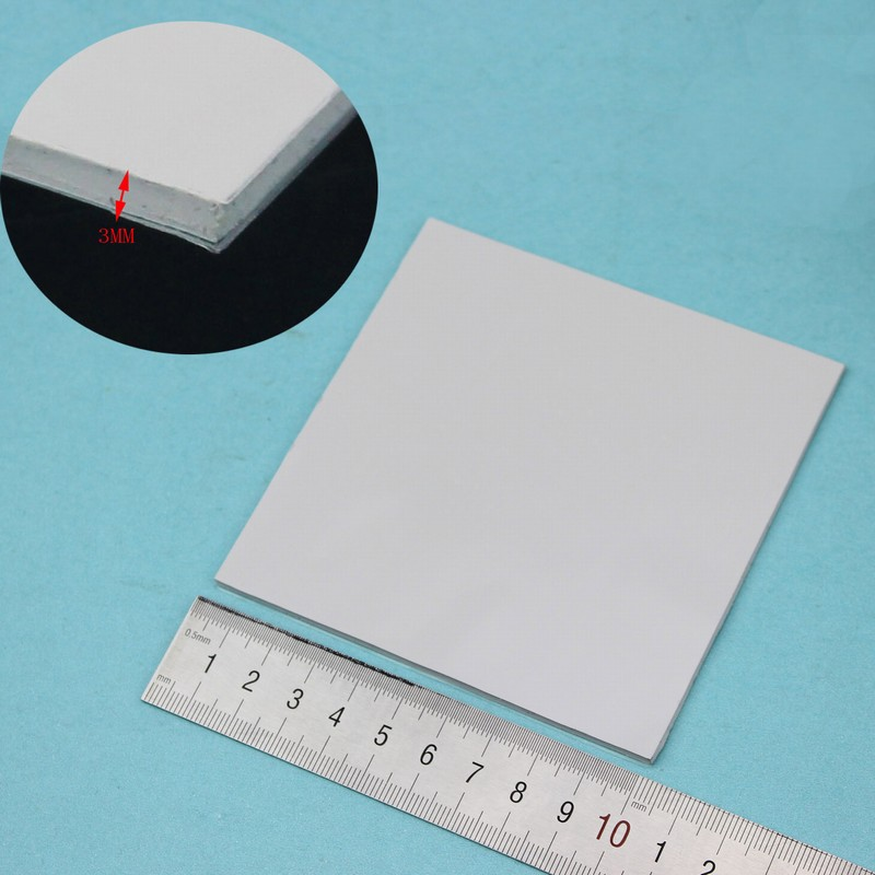 5 Pcs Gdstime 100x100x3mm Grey Laptop IC Card VGA CPU Heat Sink Cooling Silicone Pad Conductive Compound Thermal Pad 3mm White