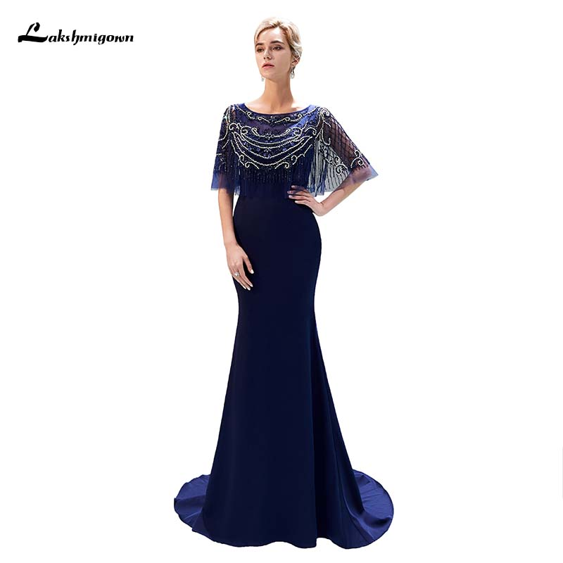 Sequin Bead Lace Flower Tassel Elegant Evening Dress With Jacket