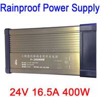 Rainproof Outdoor Power Switch AC 187 262V 220V to DC24V 16.5A 400W AC to DC 24V Constant Voltage LED Power Supply|Switching Power Supply|   -
