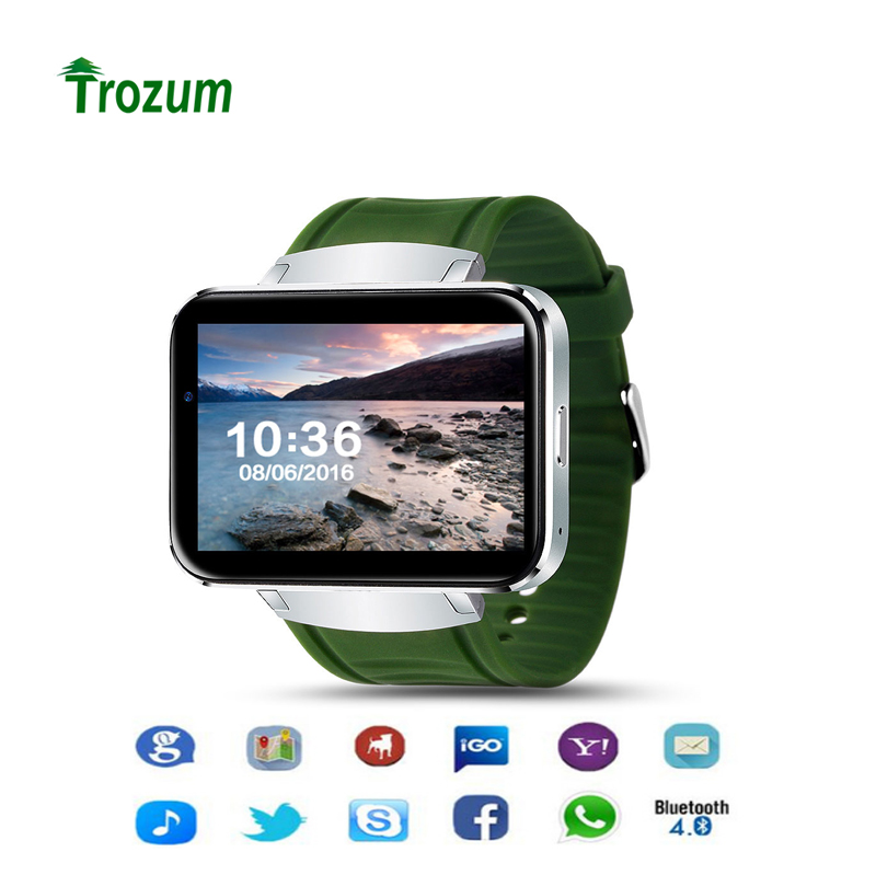 TROZUM WiFi GPS DM98 Smart Watch With GSM/WCDMA 2G/3G SIM Card Slot Camera Bluetooth Speaker Earphone Android 5.1 Phone LEM4 sim808 module gsm gprs gps development board ipx sma with gps antenna raspberry pi support 2g 3g 4g sim card