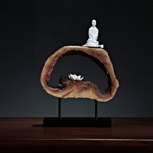 Elegant Zen Decoration Traditional Chinese Foyer Home Decorations Model  Buddhist Monk Soft Accessories Special Home Decor