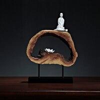 Элегантный дзен украшения Традиционный китайский фойе дома модель интерьера буддийский монах мягкие аксессуары Специальный домашний деко