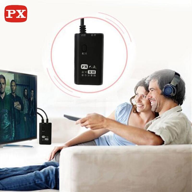 Emetteur bluetooth TV sans fil PX aptx a2dp et récepteur casque pour 3.5 jack bluetooth transmiter adaptateur audio 4.0 3.5mm-in Sans fil Adaptateur from Electronique    1