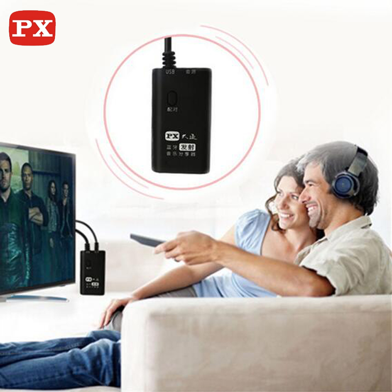PX wireless font b TV b font bluetooth transmitter aptx a2dp and headphones font b receiver