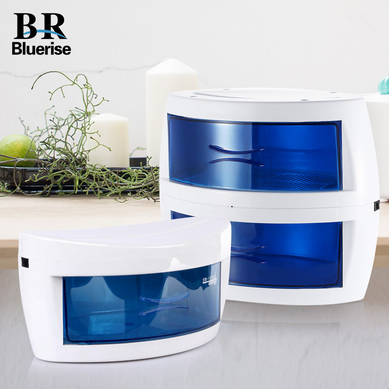 BLUERISE Single Double Layers UV Sterilizer Box safe efficient Disinfection Nail Art Tools Manicure ultraviolet sterilizing linlin high efficiency uv sterilizer kill bacteria and viruses nail art salon sterilizing tool manicure nail tool ultraviolet li