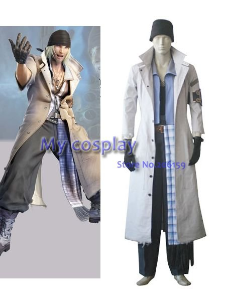 Anime Final Fantasy Cosplay coat - Final Fantasy XIII Snow Villiers Halloween Cosplay Costume Freeshipping