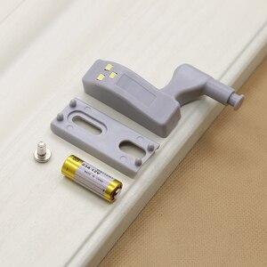 Image 2 - 캐비닛 힌지 led 센서 라이트 자동 스위치 옷장 내부 힌지 램프 야간 조명 침실 옷장 주방 찬장