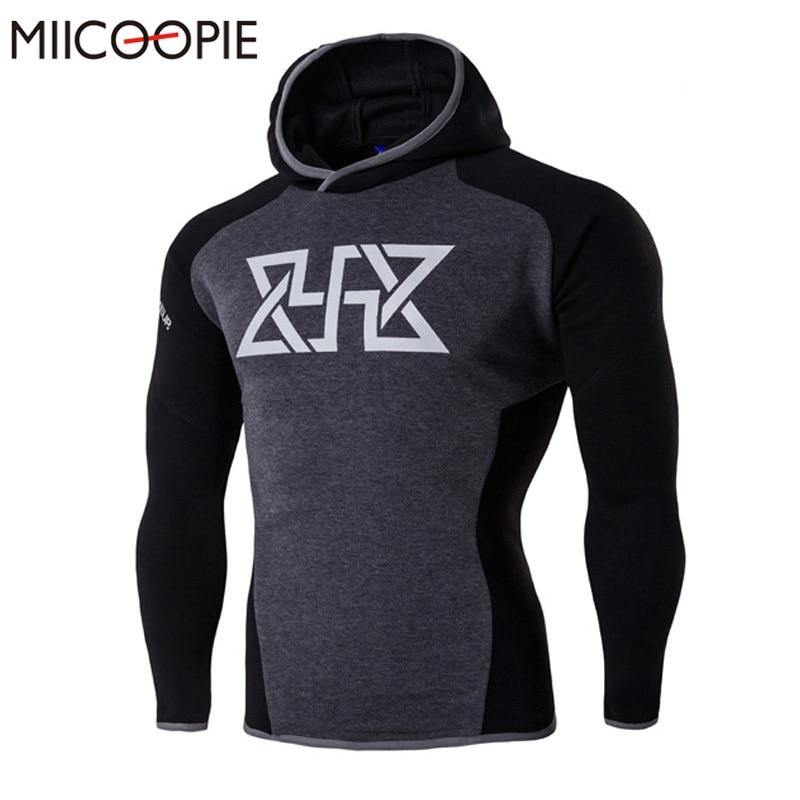 2017 New Hoodies <font><b>Men</b></font> Compression Hooded Hoodie Sweatshirts Bodybuilding Fitness Man Clothes Patchwork <font><b>Slim</b></font> Jacket Sportswear <font><b>Men</b></font>
