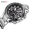Longbo Military Men Stainless Steel Band Sports Quartz Watches Dial Clock For Men Male Leisure Watch Relogio Masculino 8830