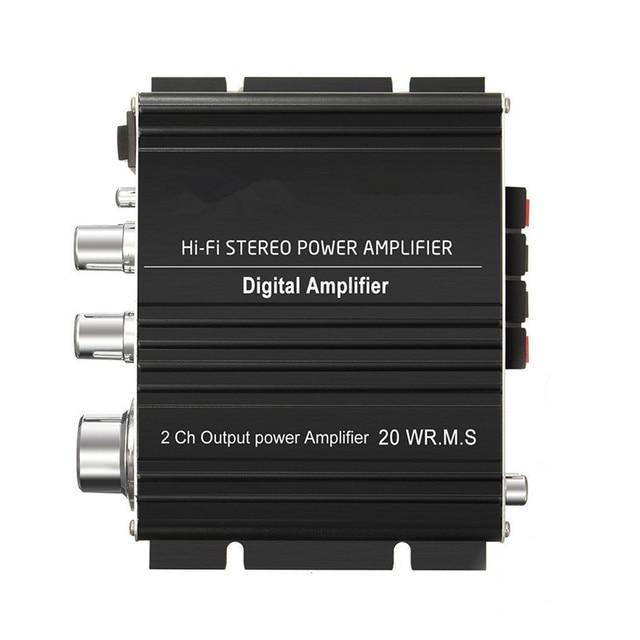 Special Offers LP2020A+ Amplifier HiFi Stereo Power 2ch Output Power Digital Amplifierl Home Car Amplifier Aluminium Alloy Black