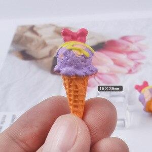 Image 4 - Boneca re mento em miniatura, 8 peças, brinquedos de fingir, mini, resina, sorvete, jogar, comida para blyth bjd barbies casa de bonecas brinquedos de cozinha