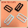 50 sets Metal hook bow tie cufflinks Hardware Necktie Hook tie Clips Fasteners to Make Adjustable Straps on Bow Tie buckles dips