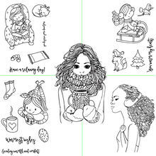 Girl Graphic View Transparent Silicone Stamp DIY Scrapbook / Album Decoration Card Making Supplies