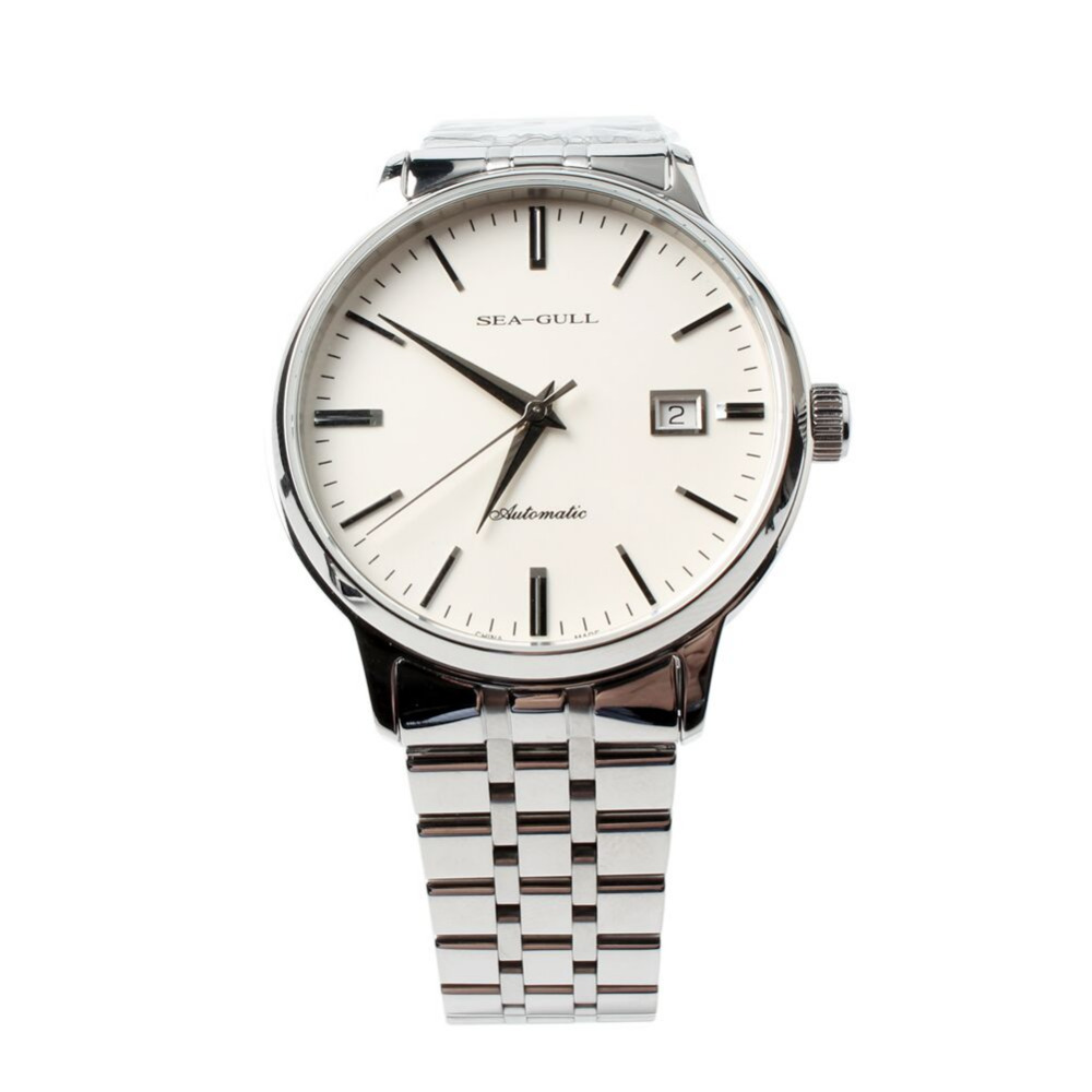 PVD With Stainless Steel 3 Hands Genuine Seagull 816.362 Exhibition Back Automatic Men's Dress Watch Sea-gull