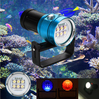 Diving Flashlight Light Torch Photography 100M Underwater 4x Red+4x purple LED Safety & Survival Z1214